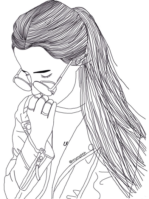 500x667 Outline, Draw, And Drawing Image Black And White Line
