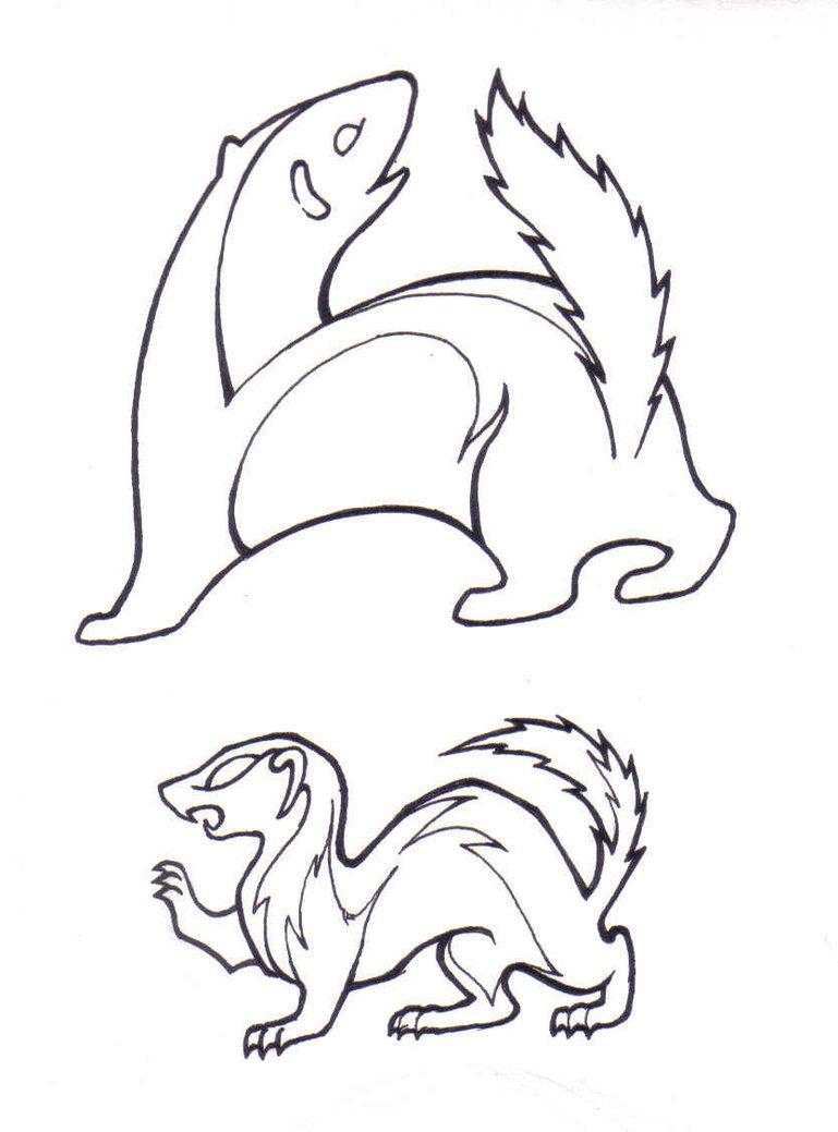 769x1039 Weasel Drawings