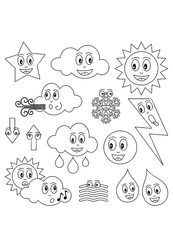 595x842 Weather Coloring Book Plus Weather Coloring Book To Print For Kids