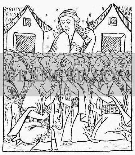 435x500 Image Of Inca Women Weaving.