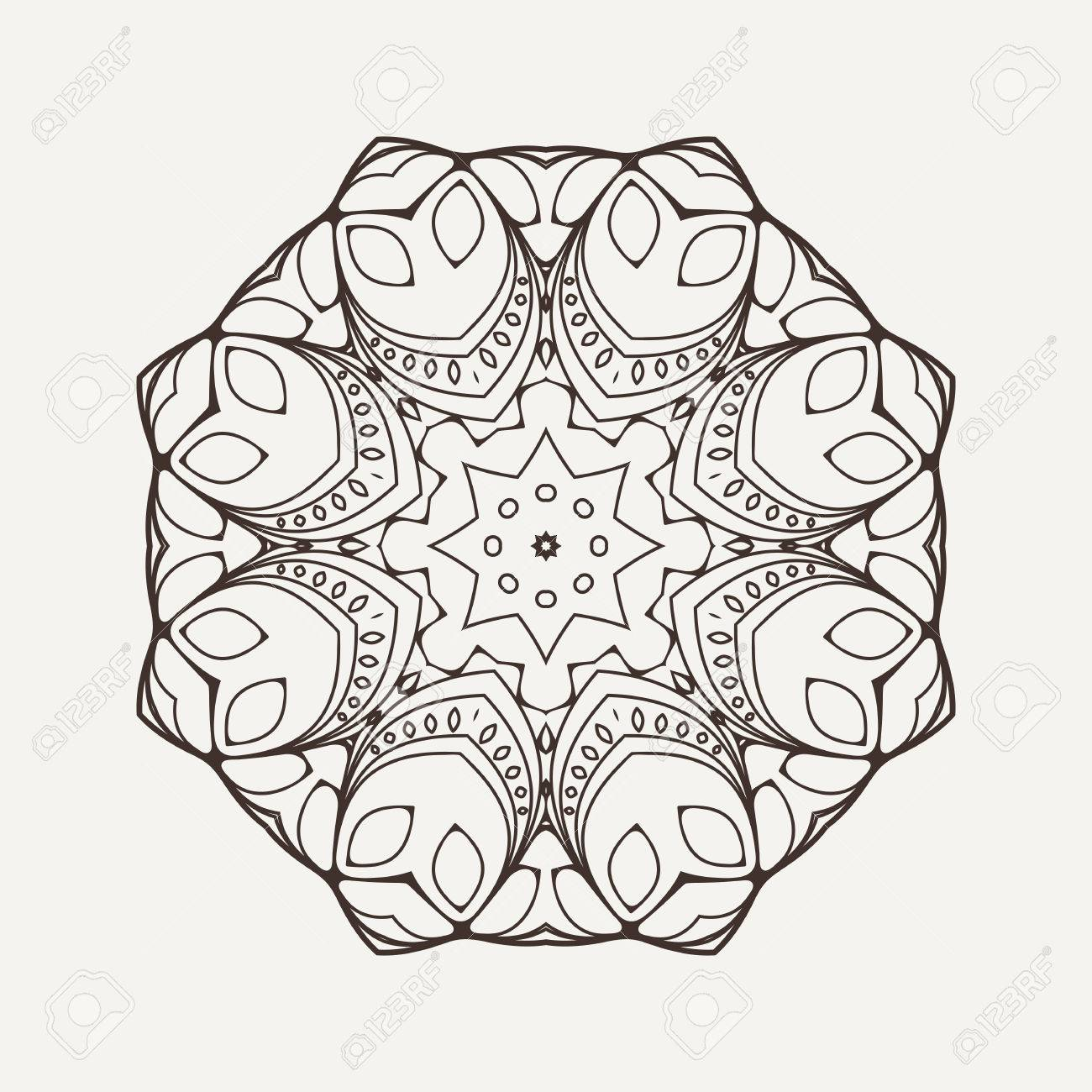1300x1300 Vector Mandala Mehndi Lace Tattoo Oriental Weave The Circular