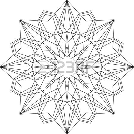 450x450 Outline Flourish Ornament. Web Design Element Isolated On White