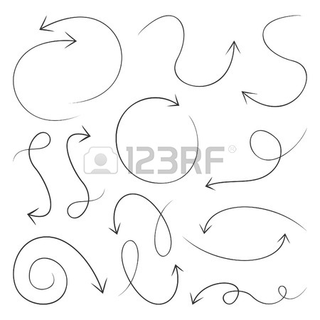 450x450 Set Of Arrows Of Sketches For Web Design A Vector Illustration