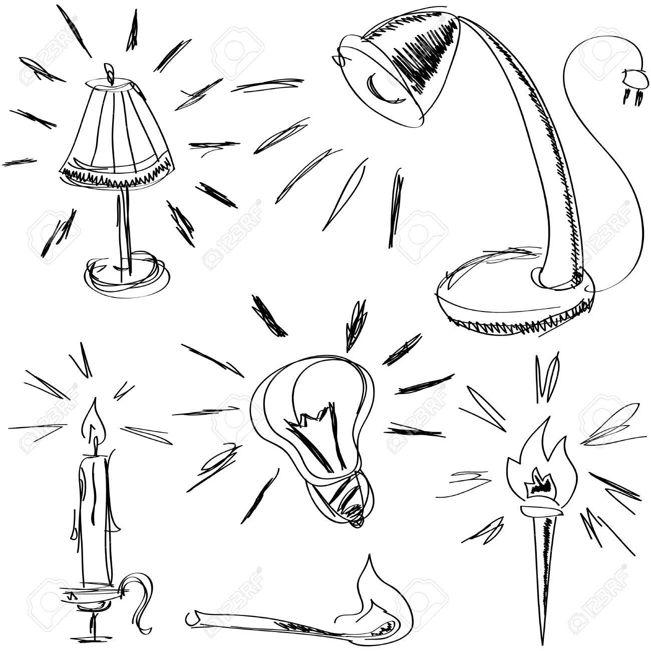 1300x1300 Some Handmade Sketches Of Lighting Devices For Web Design, High