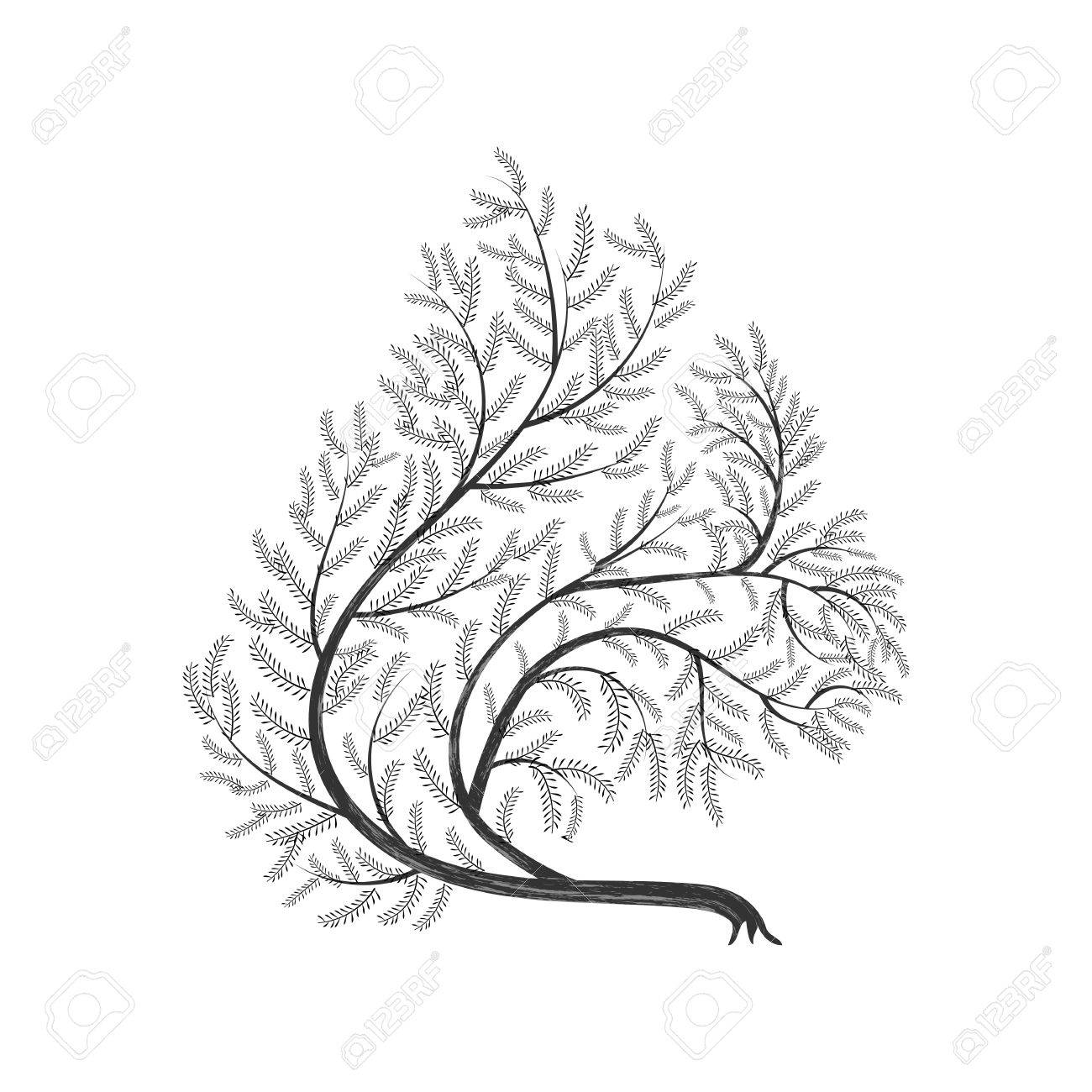 1300x1300 Stylized Branches Squirrel For Use As Logos On Cards, In Printing