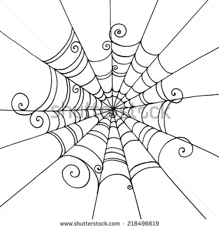 450x470 Stock Vector Spider Web Hand Drawn On Isolated White Background