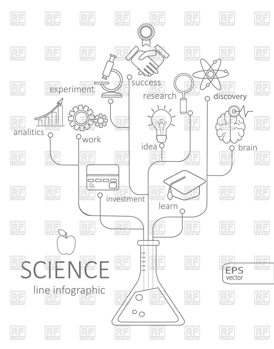 942x1200 Abstract Science Icons For Web Design Royalty Free Vector Clip Art