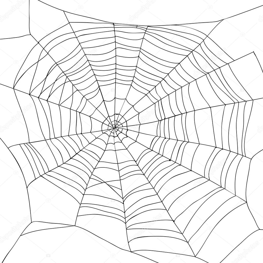 1024x1024 Abstract Drawing Of A Spiderweb Stock Vector Chekat