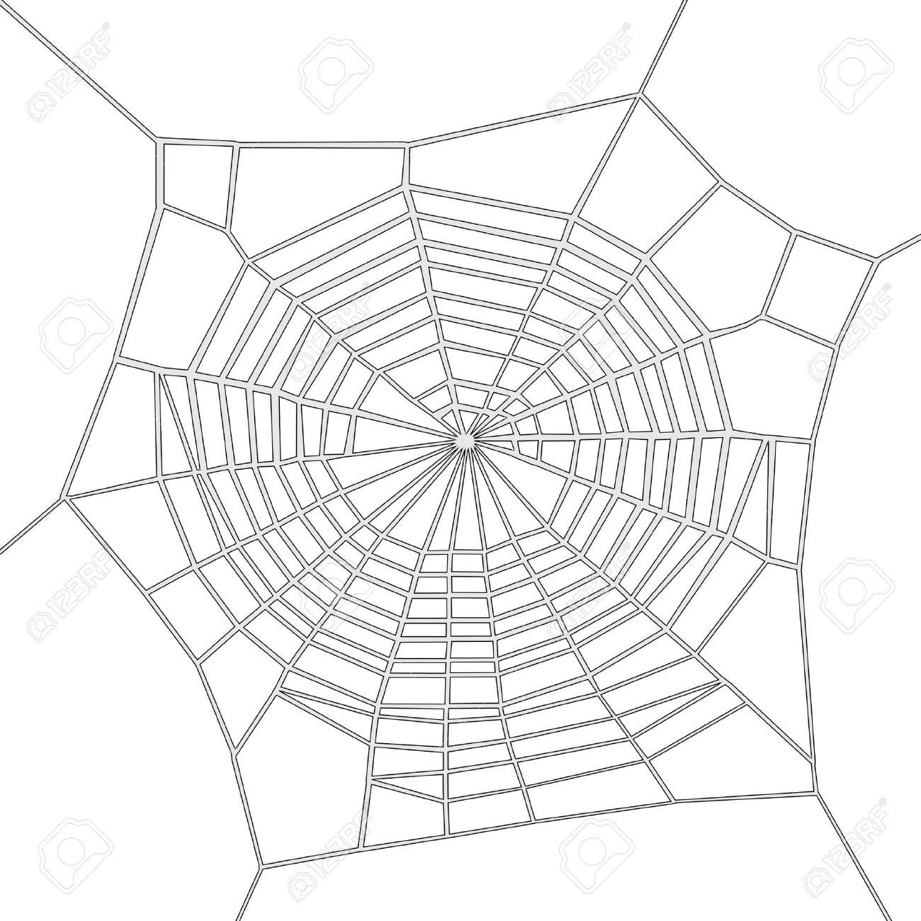 1300x1300 Spider Web Cartoon Drawing Cartoon Image Of Spider Web Stock Photo