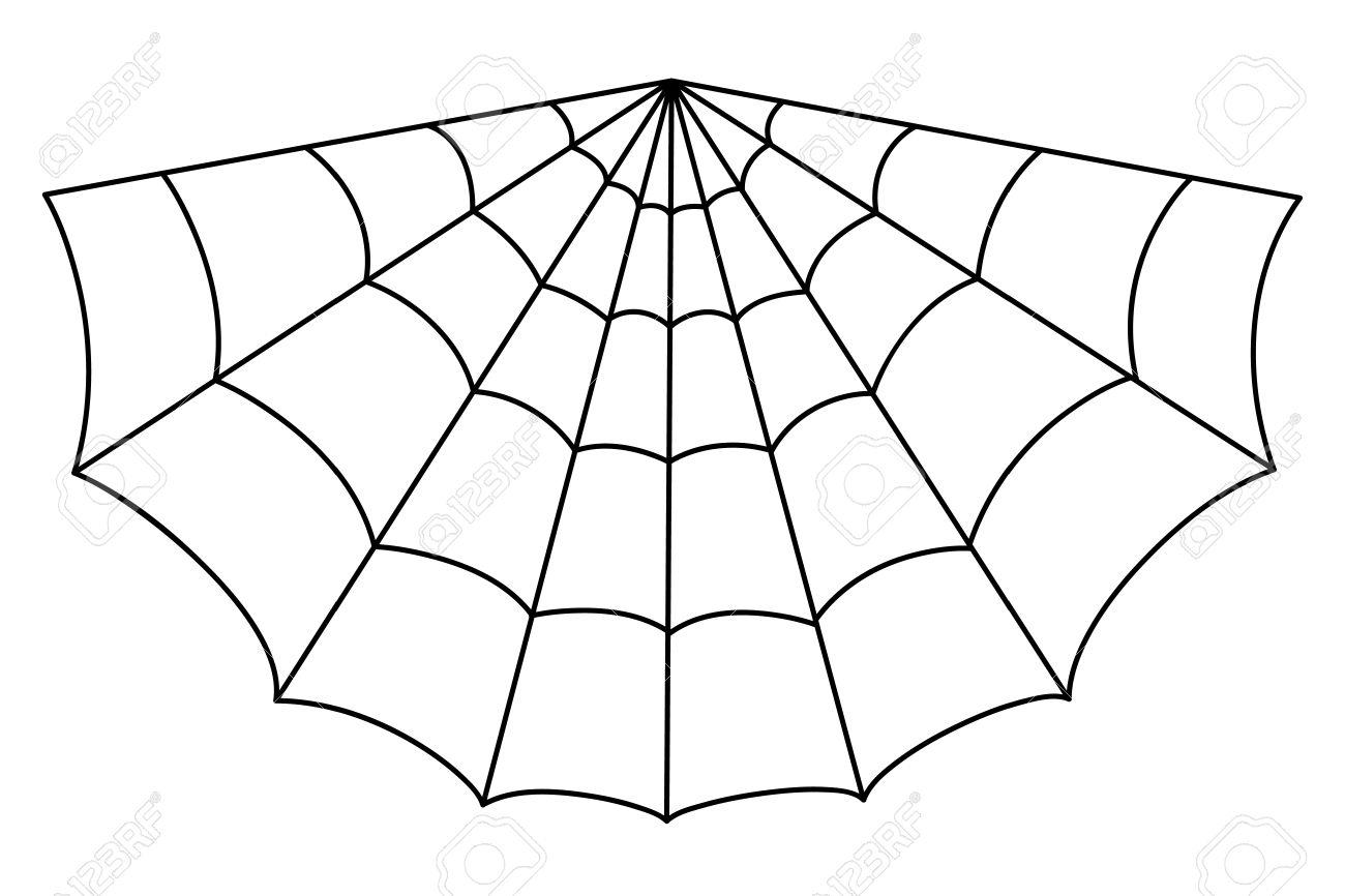 1300x866 Spider Web Cartoon Drawing Cartoon Spider Web Clipart