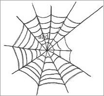 215x198 Spider Web Drawing