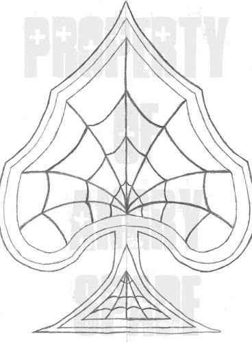 368x500 Spider Web Spade Sketch By Jmorgan07