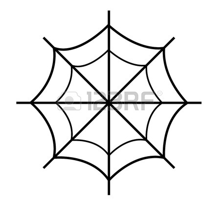 450x415 Drawing Of Spider Web Royalty Free Cliparts, Vectors, And Stock