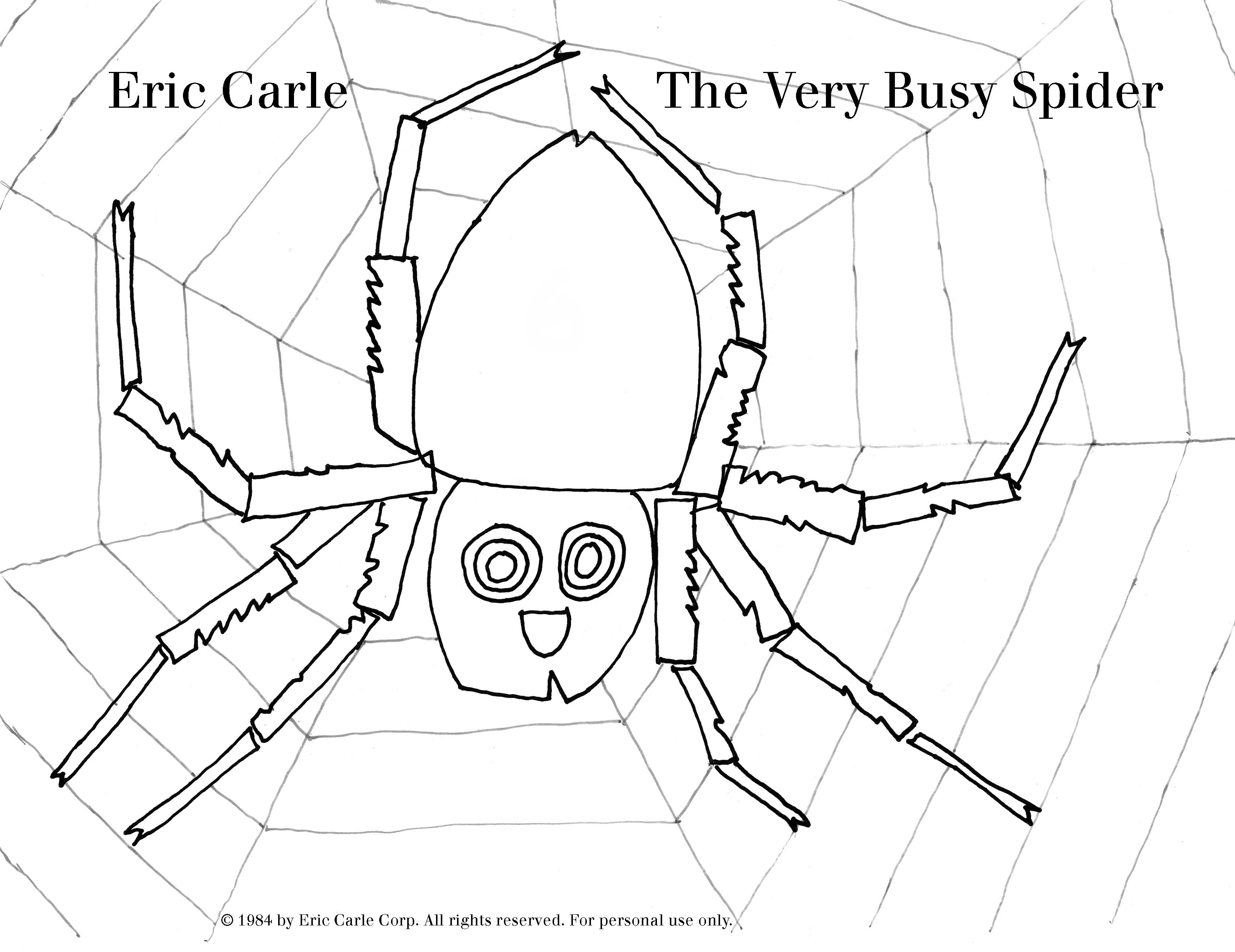 3348x2581 Spider Web Coloring Pages Unique The Ficial Eric Carle Web Site