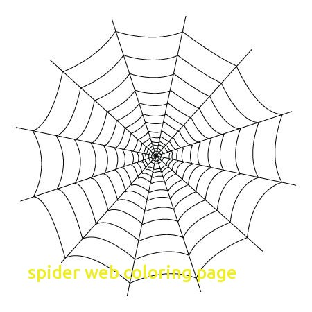 450x450 Web Coloring Pages Spider Web Coloring Page With Spider Web