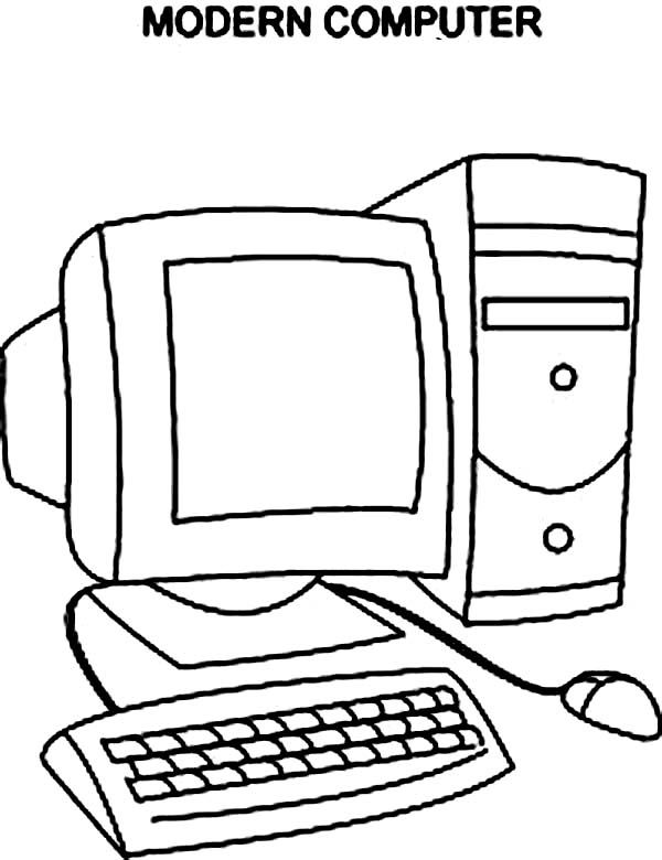 600x780 Computer Coloring Pages