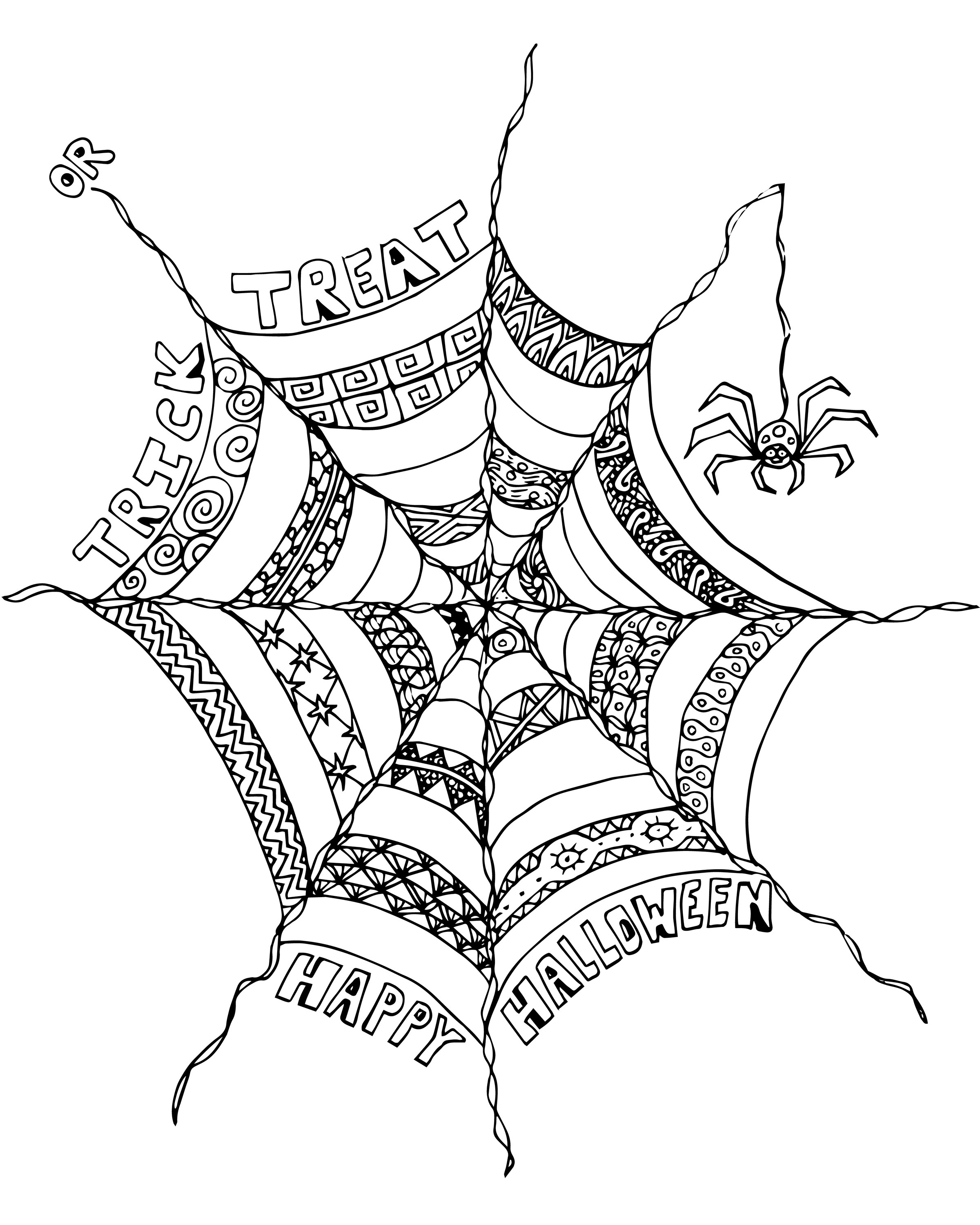 2400x3000 Free Halloween Adult Coloring Page