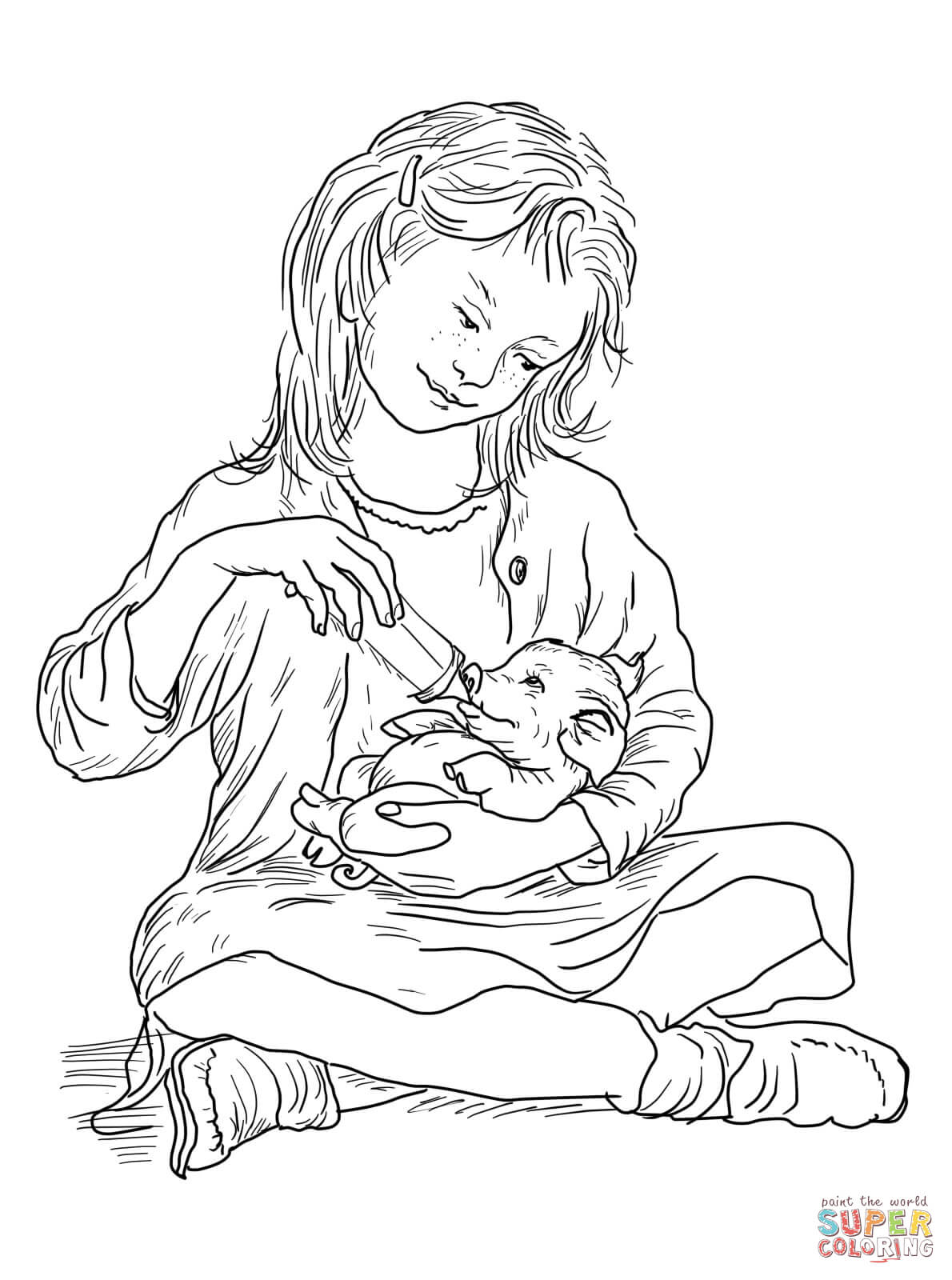 1190x1600 Fern Feeding Wilbur Coloring Page Free Printable Coloring Pages