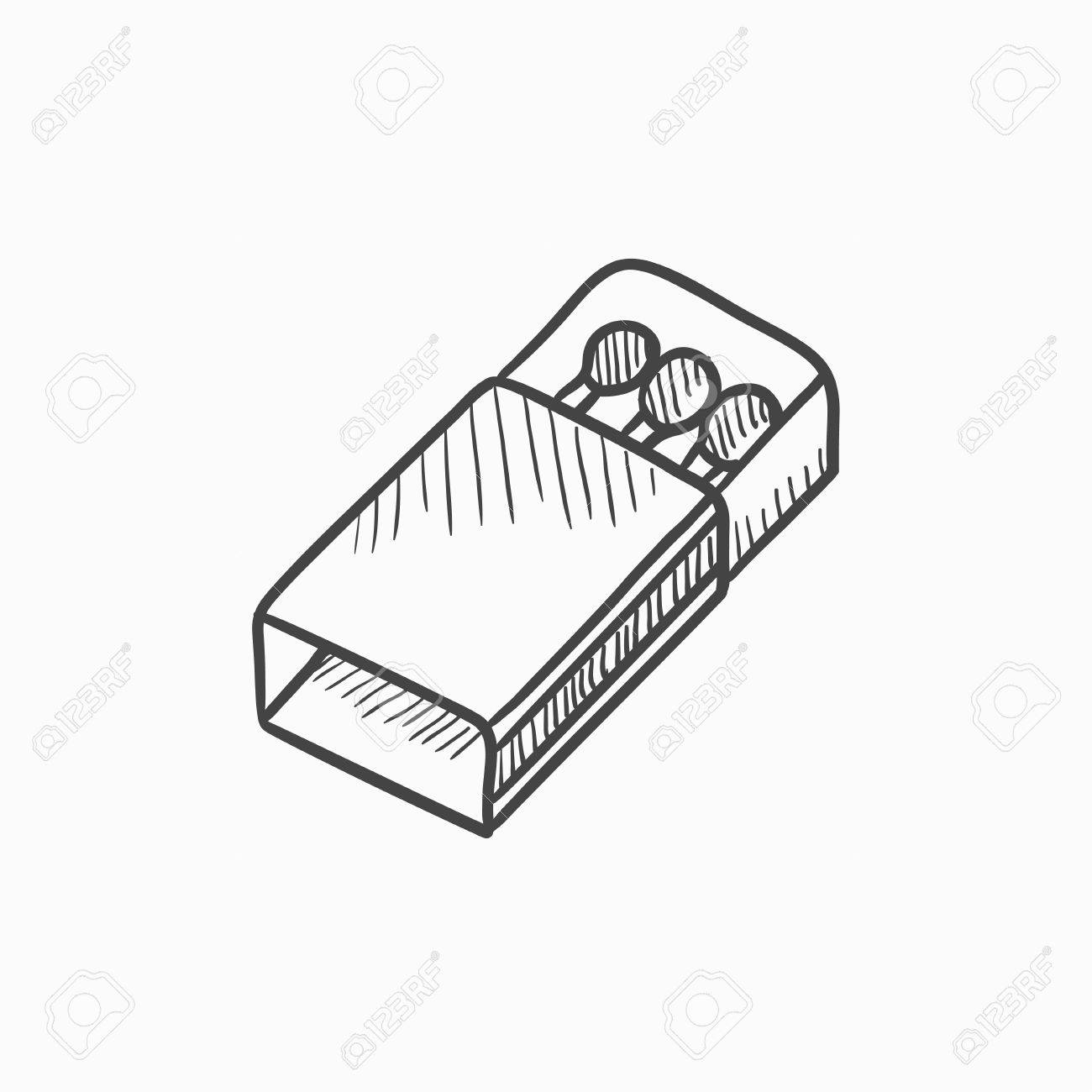 1300x1300 Matchbox Vector Sketch Icon Isolated On Background. Hand Drawn