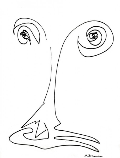 458x600 New Website Showcases Norman Mailer's Picasso Inspired Drawings