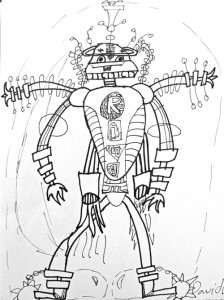 224x300 Robot Line Drawing Robot, Drawings And Deep Space Sparkle