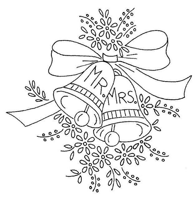 Wedding bells coloring pages ~ Wedding Bell Drawing at GetDrawings.com | Free for ...