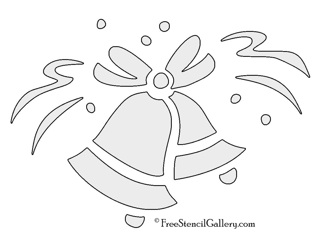 1100x850 Wedding Bells Stencil Free Stencil Gallery