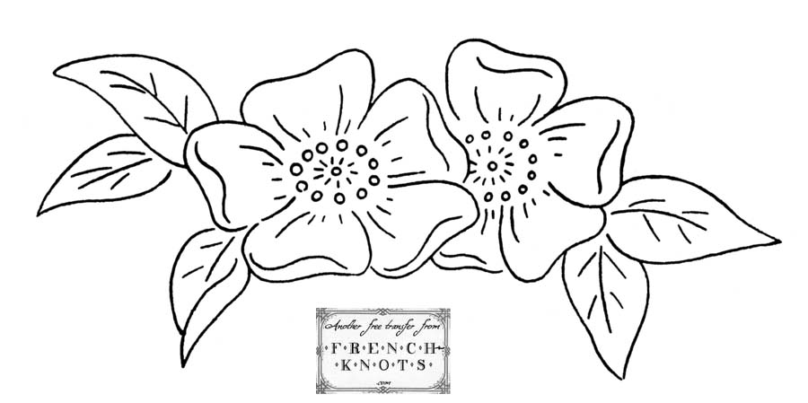 900x449 Free Vintage Wedding Bells And Violets Embroidery Transfer Patterns
