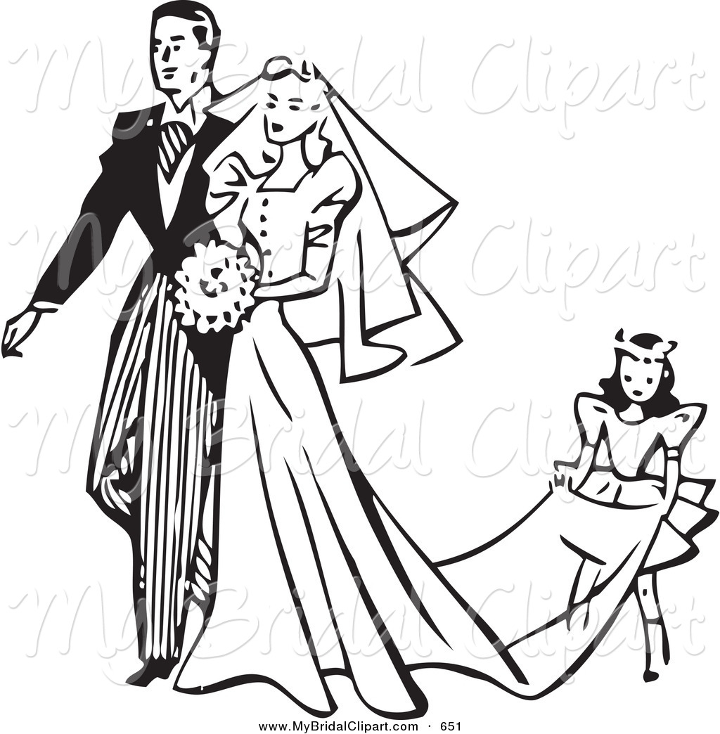 1024x1044 Black And White Wedding Clipart