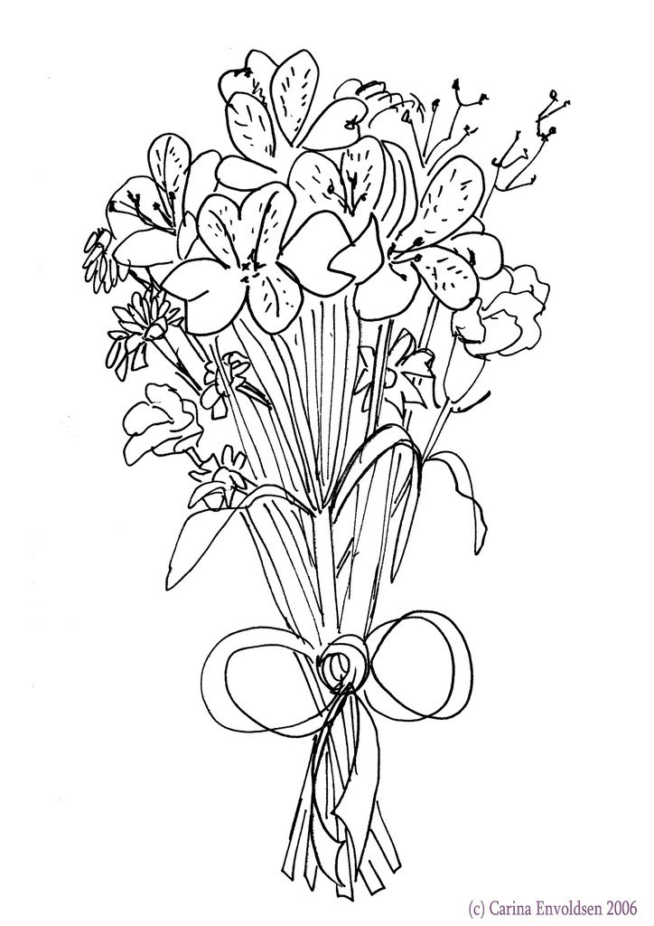 724x1024 Wedding Bouquet Drawing Fresh Alternative To Bridal Bouquet