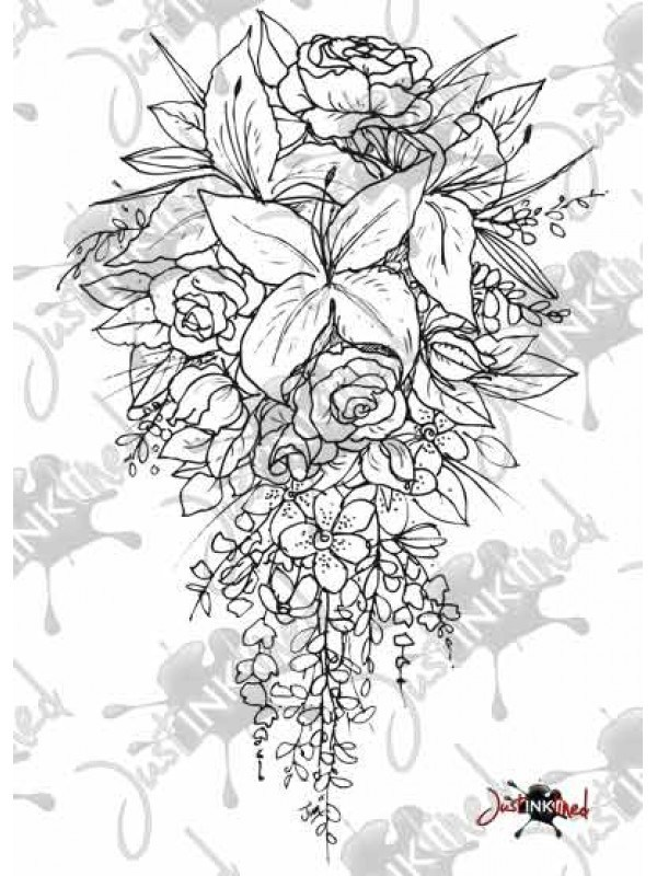 600x800 Wedding Bouquet Drawing Unique Drawn Bouquet Bridal Bouquet Pencil