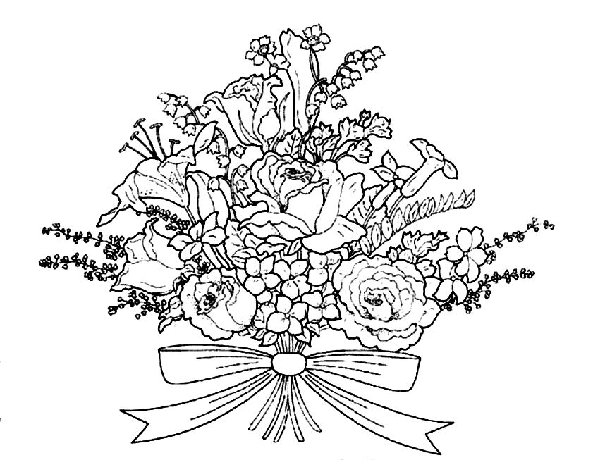 Wedding Bouquet Drawing at GetDrawings.com | Free for personal use ...
