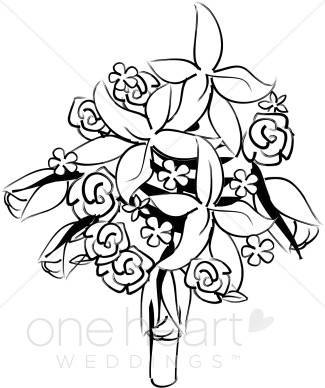 325x388 Clipart Bridal Bouquet Flower Bouquet Clipart