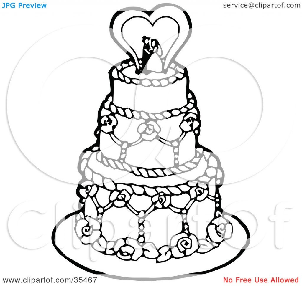 1024x971 Coloring Pictures Of Wedding Cakes Best Of Cake Decorations