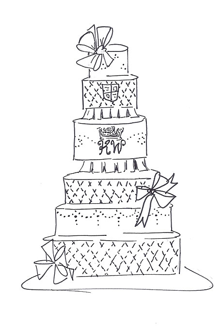 460x680 6 Extreme Wedding Cakes Sketches Photo