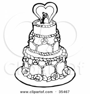 287x300 Wedding Cake Drawings Of Wedding Cakes Drawings Of Wedding Cakes