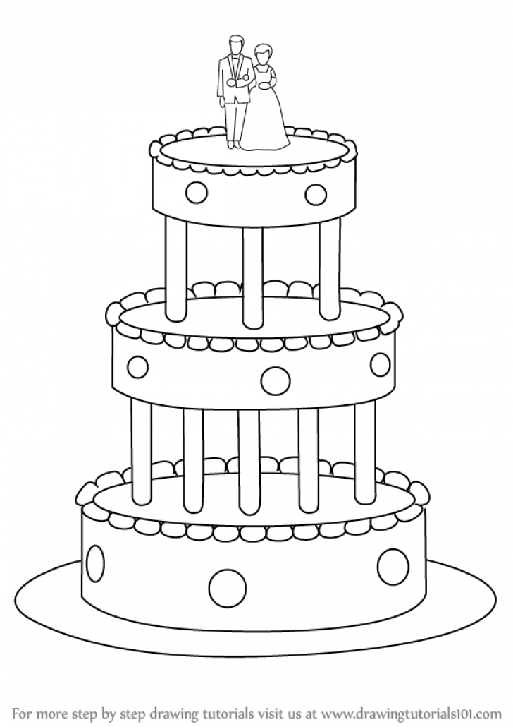 728x1030 Wedding Cake Drawing Wedding Cake Ideas