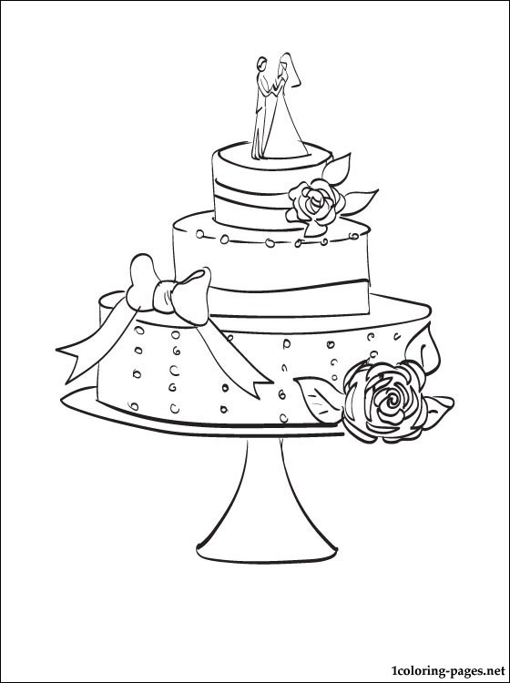 560x750 Wedding Cake Coloring Page Coloring Pages