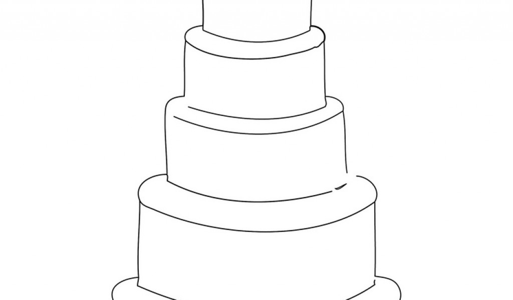 wedding cake outline clip art wedding cake drawing at getdrawings free for 23366