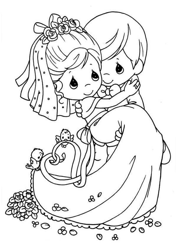 600x840 Fascinating Wedding Coloring Pages Free 46 On Coloring Pages