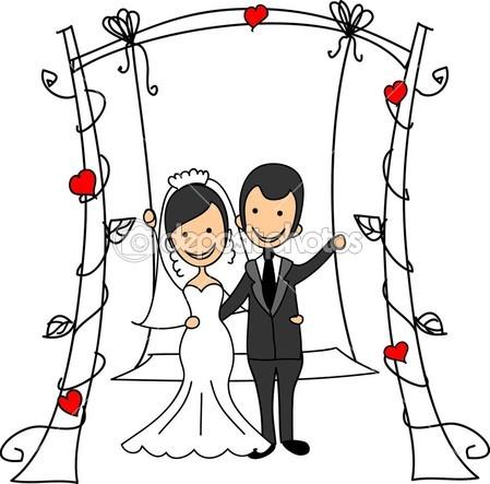 449x443 Depositphotos 14447989 Wedding Cartoon Bride And Groom.jpg (449