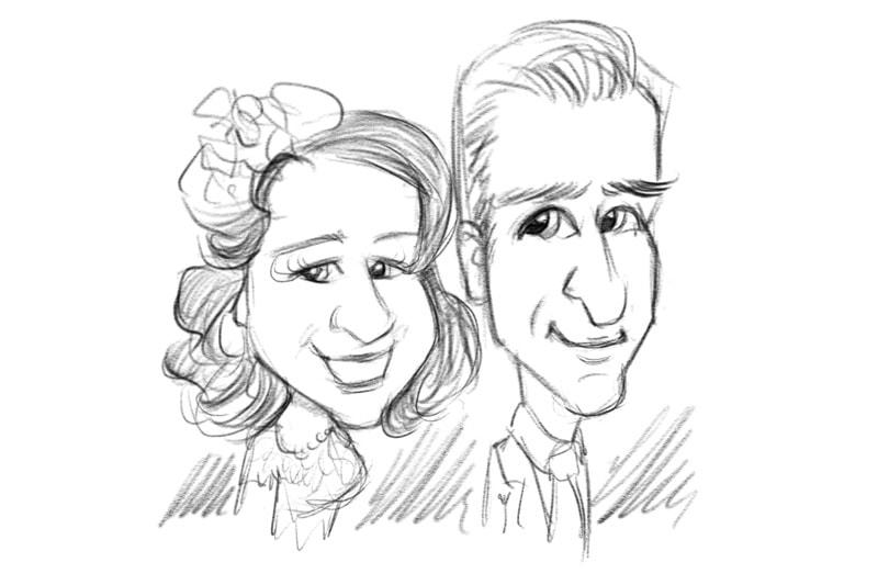 800x533 Wedding Live Ipad Caricaturist Entertainer Caricatures Exclusive