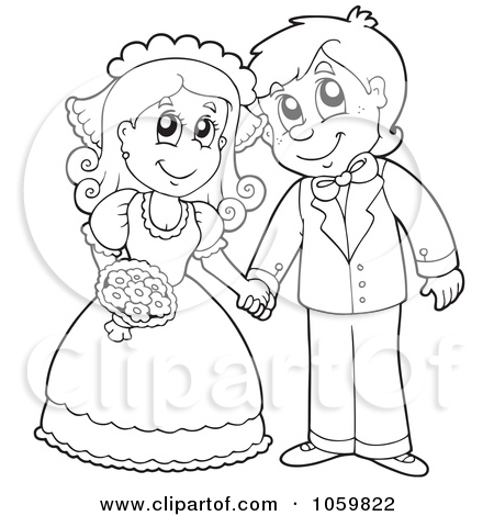 450x470 Royalty Free Clipart Illustration Coloring Page Outline