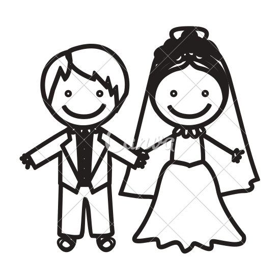 550x550 Sketch Silhouette Married Couple Icon