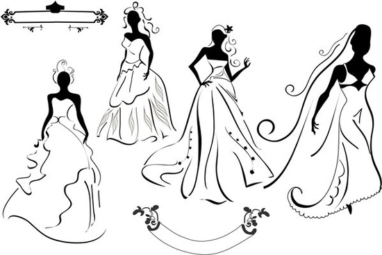 550x368 Wedding Couple Silhouette Free Vector Download (7,104 Free Vector