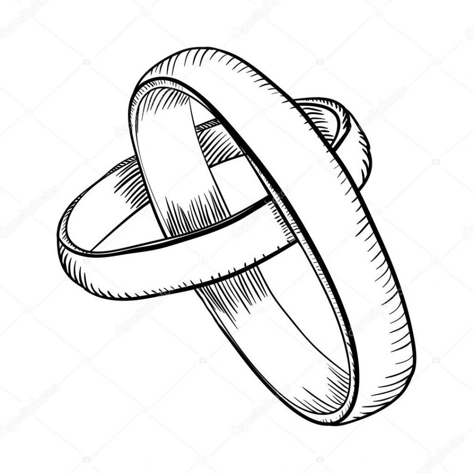 970x970 Elegant Drawing Wedding Rings Photo Collection