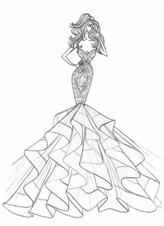 236x324 Exclusive! Designers Sketch Wedding Gowns for Lady Gaga amp More