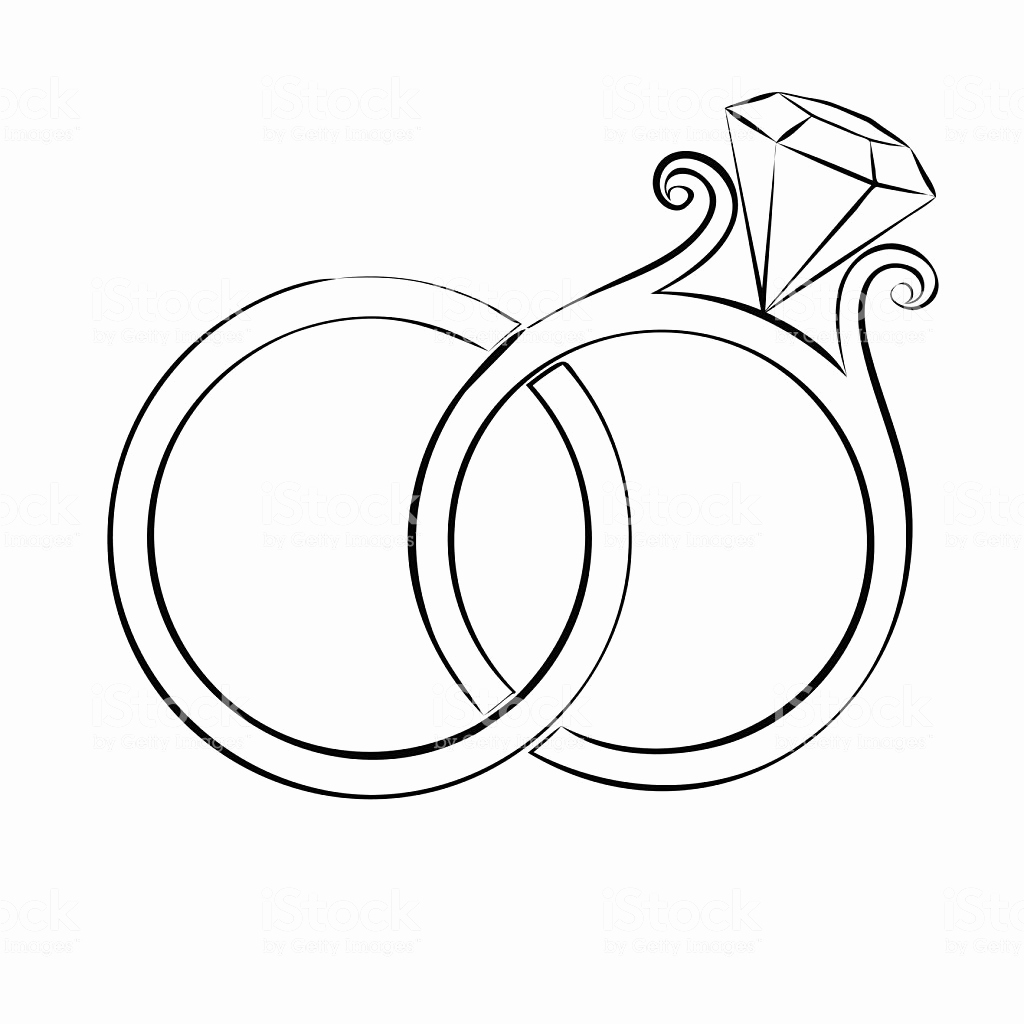 1024x1024 52 Awesome Wedding Ring Drawing
