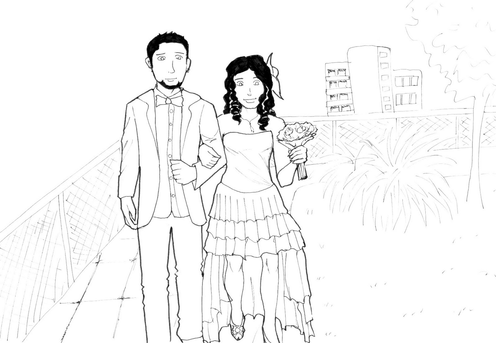 1600x1107 Sketching the world The wedding drawing