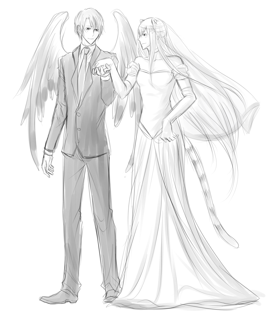 900x1039 VolSa Wedding sketch by minghii on DeviantArt